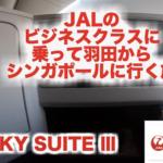 JAL ビジネスクラス(JAL SKY SUITE Ⅲ)に乗ってSINGAPOREを旅します~ JAL機内編~富士山綺麗に見れました!