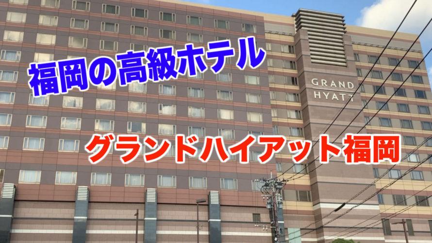 【福岡の高級ホテル】グランドハイアット福岡に泊まってみた