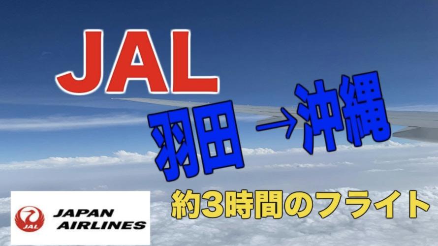 JAL羽田→沖縄約3時間のフライト