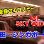 【世界最高峰のエコノミー】JALのエコノミークラスで成田→シンガポール
