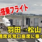 【令和初フライト】JAL435便羽田発松山行き、普通席非常口座席に乗ってみた