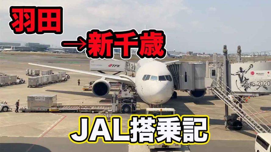 【JAL搭乗記】羽田ー新千歳空港