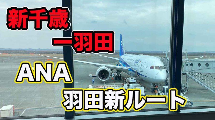 【羽田新ルート】ANA新千歳ー羽田搭乗記